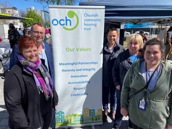ŌCHT team members at the 2020 World Homelessness Awareness Day in the Square.