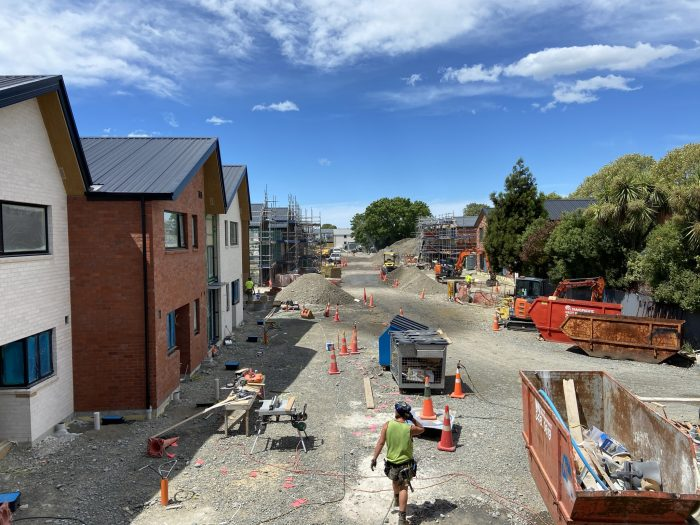 Work continues on stages 2 and 3 of ŌCHT's Brougham St project.