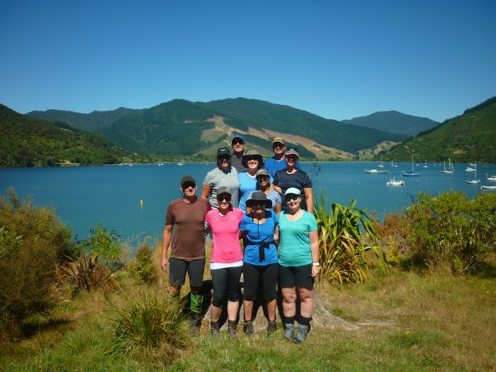 Hilary Watch, the 10 person team on Keith's Outward Bound experience.