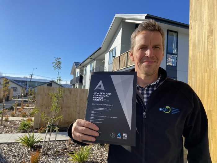 ŌCHT commercial and development manager Ed Leeson says the New Zealand Commercial Project Award recognises the efforts of the team behind the Tiwaiwaka Lane development.